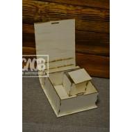 Шкатулка-книжка (на четыре квадратные коробки)