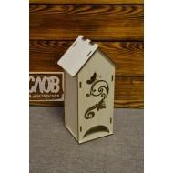 Чайный домик с узором и бабочками №1