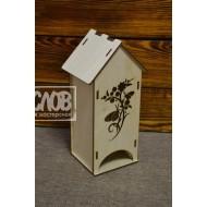 Чайный домик с узором и бабочками №2