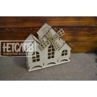 Чайный домик тройной с мельницей