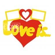 """Фоторамка """"LOVE is"""""""