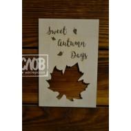 """Открытка для фотосессии """"Sweet Autumn Days"""""""