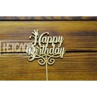 """Топпер """"Happy Birthday"""" с короной"""
