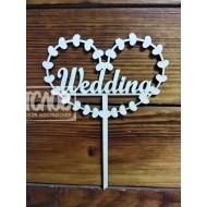 """Топпер   """"Wedding"""" в сердце"""
