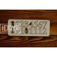 Набор цифр для циферблата №10