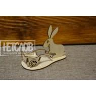 Кролик с телегой (под маленькое яйцо)