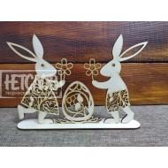 Пасхальная композиция  с зайцами