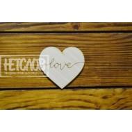 """Сердце с гравировкой """"love"""""""