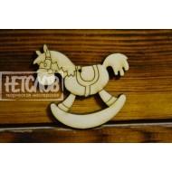 Лошадка-качалка с отверстием для подвеса