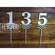 Цифры на палочке для нумерации столов