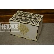 Короб для денежных подарков с гравировкой
