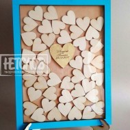 Рамка пожеланий на подставке (45 сердец)