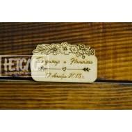 Основа под магнитик  для подарка гостям на свадьбе №3