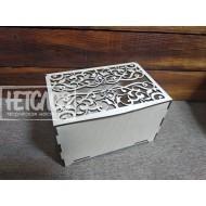 Короб для денежных подарков с ажурной крышкой