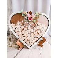 Сердце пожеланий на подставке (40 сердец)