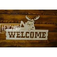 "Табличка с надписью ""WELCOME"""