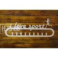 "Медальница  ""I love sport"", бег"