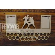 Медальница  именная, бокс, фото сменное