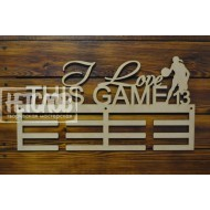 "Медальница  ""I love this game"", баскетбол"