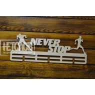"Медальница ""Never stop"", лыжник и бегун"