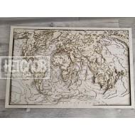 """Настенный декор """"Карта мира"""", многослойная (7 слоев)"""