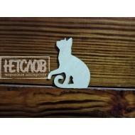 """Заготовка для броши """"Силуэт кошки """"№1"""