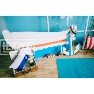 Лодка и якорь для фотосессии