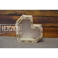 Короб «Сердце полигональное»