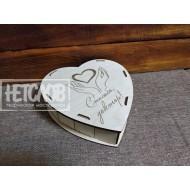 Шкатулки в форме сердца